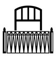 lattice balcony icon simple style vector image vector image