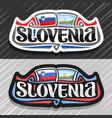 logo for slovenia vector image vector image