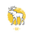 Logo of elk on a white background vector image