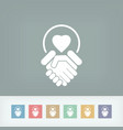 lovers union icon vector image vector image