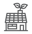 low energy house line icon ecology and energy vector image vector image