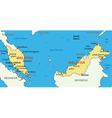 Malaysia - map vector image