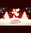 merry christmas cute background with angel glazed vector image