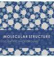 molecular structure blue scientific background vector image