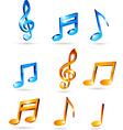 Music tones vector image vector image
