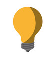 realistic colorful shading image of light bulb on vector image vector image