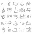 restaurant thin line icons vector image vector image