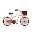 retro bicycle isolated icon design vector image