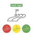 road sign outline icons set vector image vector image