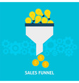 Sales Funnel Converting Ideas into Money Flat vector image vector image