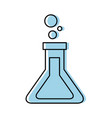 school test tube laboratory chemistry equipment vector image vector image