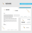 screw driver business letterhead envelope and vector image vector image