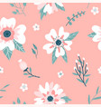 seamless pattern with a dogrose flowers rosehip vector image