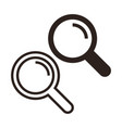 search icon set magnifying glass vector image vector image