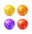 set disco balls vector image