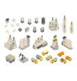 set industrial factories plant building vector image