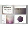 Set of business templates for presentation slides vector image vector image