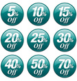 Shopping Sale Discount Badge in Teal vector image vector image