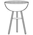 Sketch of barbecue alone vector image