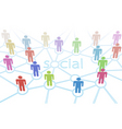 social network vector image vector image
