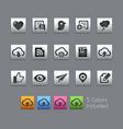 social sharing and communications - satinbox vector image vector image