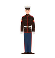 soldier of usa armed force wearing parade uniform vector image