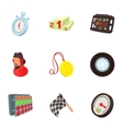 Speed race icons set cartoon style vector image vector image