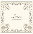 Square lace frame vector image vector image