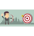 Successful businessman with arrow in the target vector image vector image