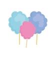 Sugar food design cotton candy icon sweet vector image vector image