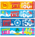 summer shopping banners set hot price vector image