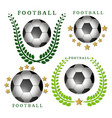 the theme football vector image