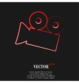 Video-camera Flat modern web button and space for vector image vector image