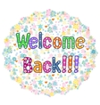 welcome back decorative lettering text vector image vector image