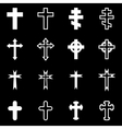 white crosses icon set vector image vector image