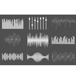 White sound music waves Audio technology visual vector image