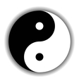 Yin Yang symbol icon in black and white vector image vector image