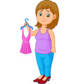 young woman holding dress vector image vector image