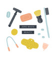 zero waste beauty kit eco friendly reusable items vector image vector image