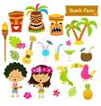 Hawaiian Set vector image