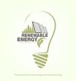 renewable energy of solar energy in bulb concept vector image