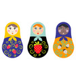 russian nesting doll set vector image