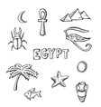 sketch collection of Egyptian symbols vector image