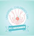 20 november childrens day vector image