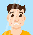 acne man in mirror vector image vector image