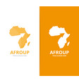 africa and arrow up logo combination vector image vector image
