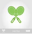 badminton racket outline icon summer vacation vector image vector image