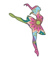 Ballet dancer colorful vector image vector image