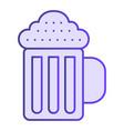 Beer mug flat icon beverage violet icons in