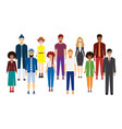 big crowd diverse ethnic young people are vector image